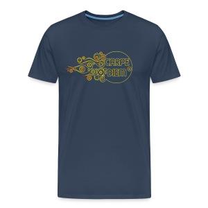 Carpe Diem - Outline Flames - Männer Premium T-Shirt