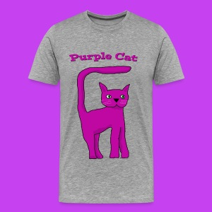 Purple Cat Kids Eco T Shirt - Men's Premium T-Shirt