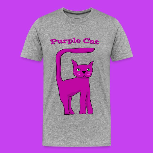 Purple Cat Kids Eco T Shirt