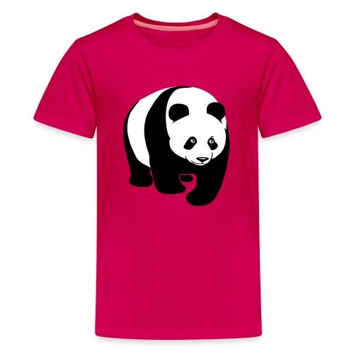 tier t-shirt panda teddy bär bärchen süß niedlich gesicht - Teenager Premium T-Shirt