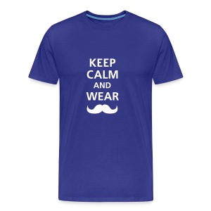 KEEP CALM - BLUE - Camiseta premium hombre