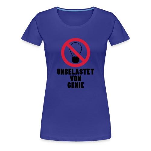 unbelastet von Genie - Frauen Premium T-Shirt