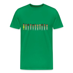 Men T-Shirt - green and white boys line - Men's Premium T-Shirt