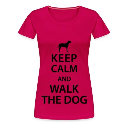 Walk The Dog - Vrouwen Premium T-shirt