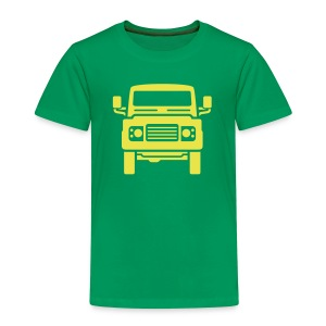 Landie Defender illustration - Premium T-skjorte for barn