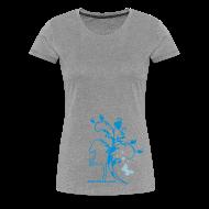 T-Shirts ~ Frauen Premium T-Shirt ~ Damenshirt Butterfly 2F grau