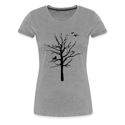 Baum Schattenriss (T-Shirt) - Frauen Premium T-Shirt