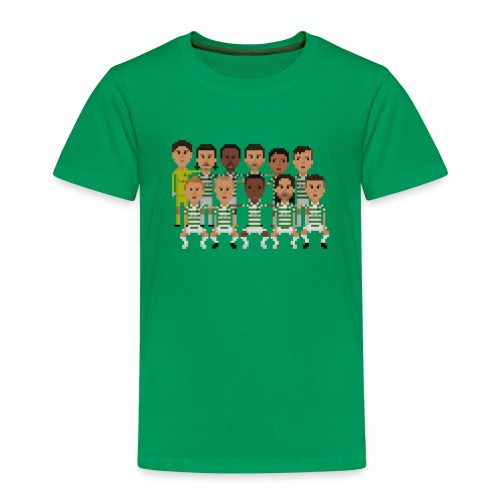 Kids T-Shirt - green and white boys squad - Kids' Premium T-Shirt