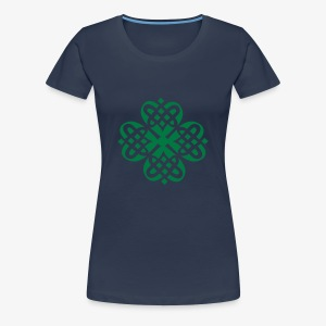 Shamrock Celtic Knot decoration patjila  - Women's Premium T-Shirt
