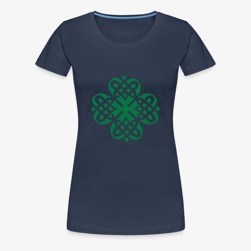 Shamrock Celtic Knot decoration patjila  - Women's Premium T-Shirt