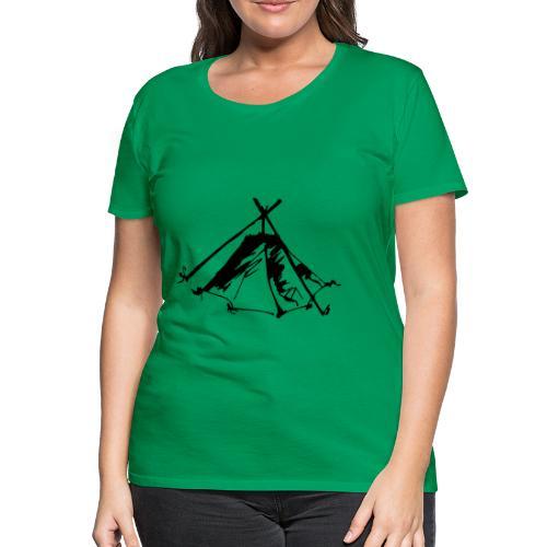 Wieviel Zelt braucht der Mensch? - Kothe - Frauen Premium T-Shirt