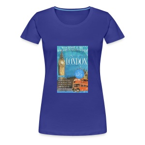 LADIES Taff Tourism: London  (swear free) - Women's Premium T-Shirt