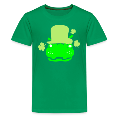 Hippo in green hat st.Patty's day Classic Teenager
