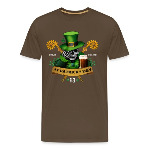 [St Patrick] marron - Men's Premium T-Shirt