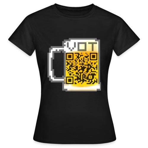 VOT QR CODE GIRLIE SHIRT - Frauen T-Shirt
