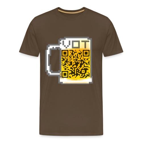 VOT QR CODE SHIRT - Männer Premium T-Shirt