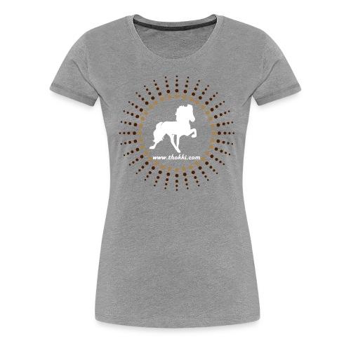 Damenshirt Sonnentölter grau - Frauen Premium T-Shirt