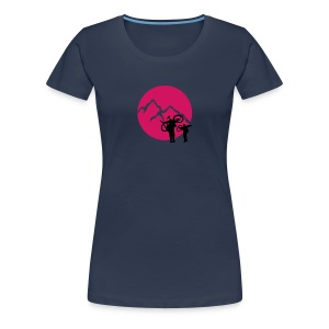 Big Mountain Biker | Kreis (Flockdruck) - Frauen Premium T-Shirt