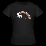 T-Shirts ~ Frauen T-Shirt ~ Damenshirt Regenbogentölter braun