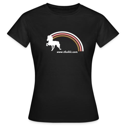 Damenshirt Regenbogentölter braun - Frauen T-Shirt