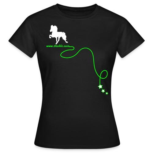 DamenshirtRock'n'Tölt 2F braun - Frauen T-Shirt