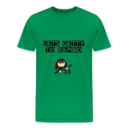 Let's Getty To Rambo - Männer Premium T-Shirt