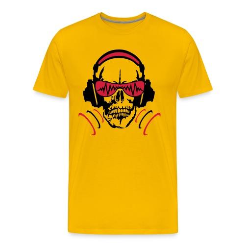 skull yellow - T-shirt Premium Homme