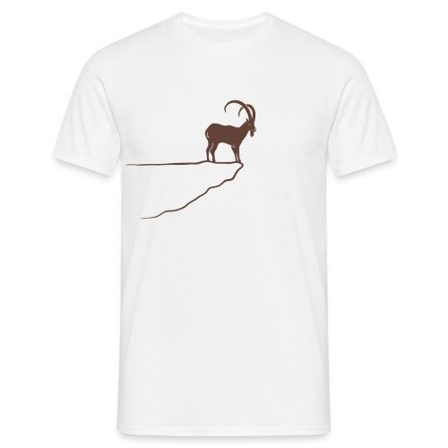 tier t-shirt steinbock alpen berge klettern ibex alps allgäu tirol bergziege - Männer T-Shirt