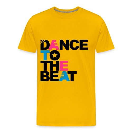 Dance yellow - T-shirt Premium Homme