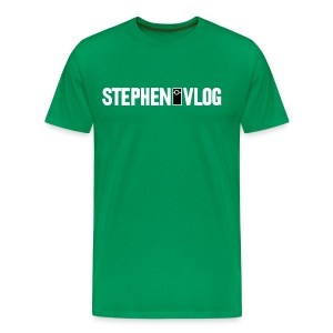 StephenVlog Logo - White (Men's) - Men's Premium T-Shirt