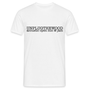 Unplug The Wood Letterbox Black - Mens - Men's T-Shirt