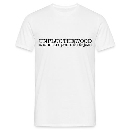 UnplugTheWood standard T dark lettering - Men's T-Shirt