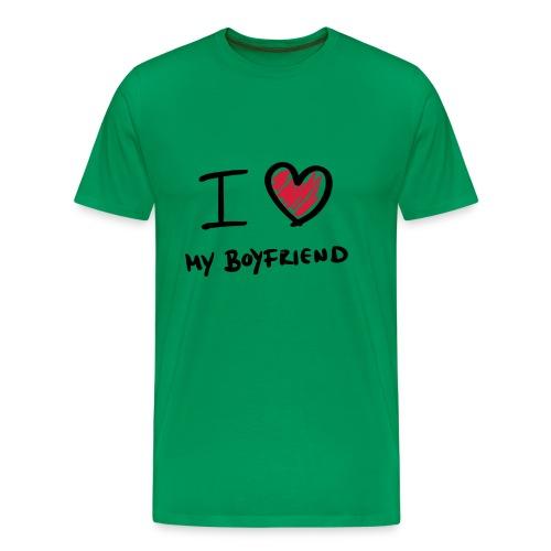 i_love_my_boyfriend - Camiseta premium hombre