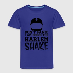 Don't panic do the Harlem shake meme dance t-shirt T-Shirts - Kinder Premium T-Shirt
