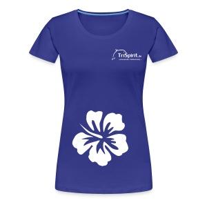 Cordula Kontrastshirt grosse Blume weisses Logo - Frauen Premium T-Shirt
