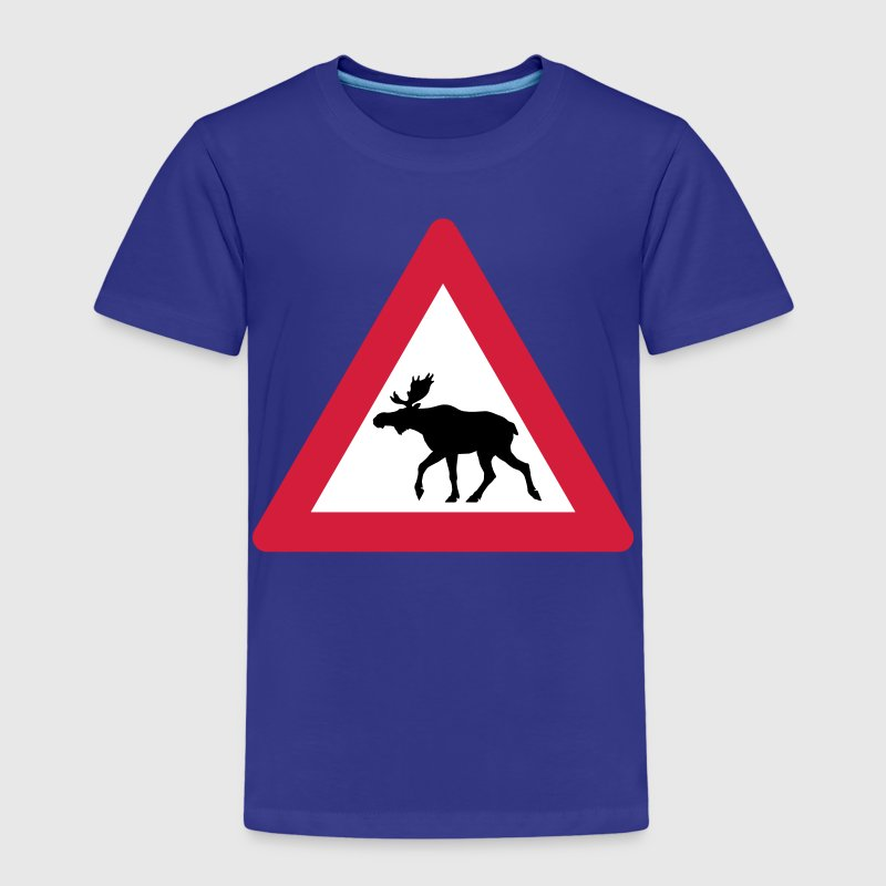 Warning Moose Sign Shirts - Kids' Premium T-Shirt