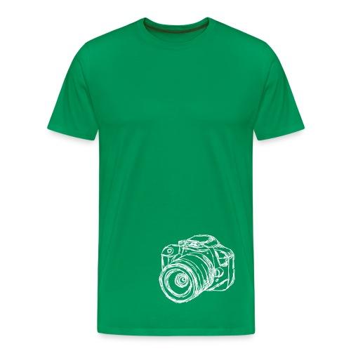 Shirt Kamera (weiß) - Männer Premium T-Shirt