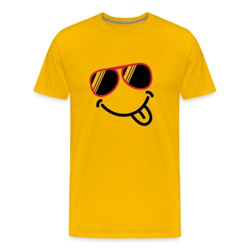T-shirt jaune Smiley - T-shirt Premium Homme