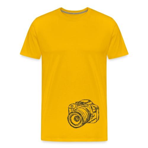 Shirt Kamera (grau) - Männer Premium T-Shirt