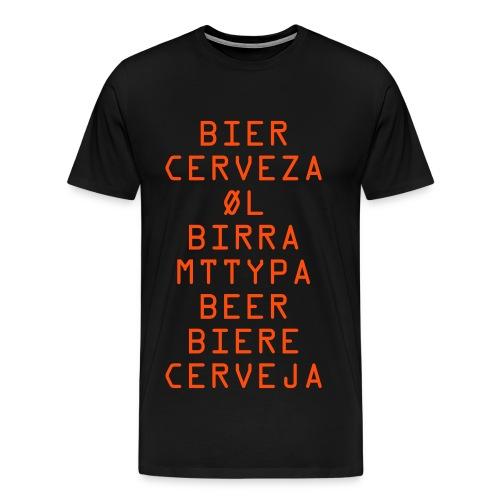 Beer in any language - Men's Premium T-Shirt