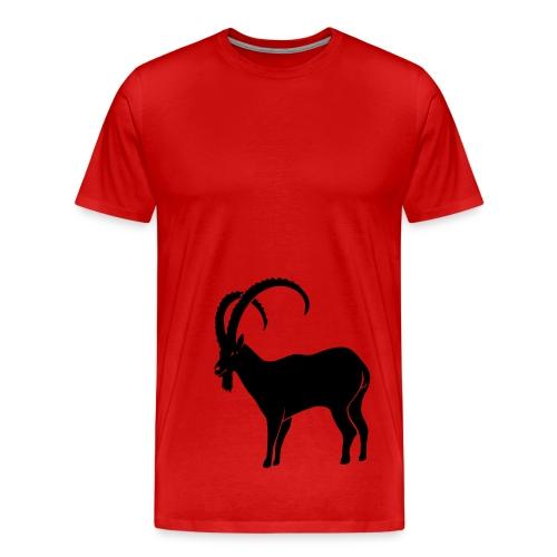 tier t-shirt steinbock alpen berge klettern ibex alps allgäu tirol bergziege - Männer Premium T-Shirt