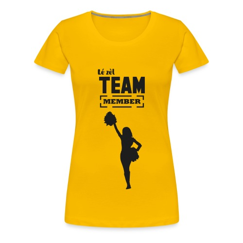 Tee-shirt LÉ ZEL / Club des supportrices Jaune - T-shirt Premium Femme
