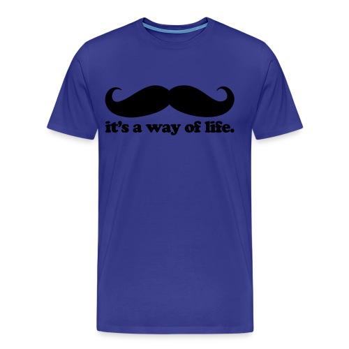 Mustache Life - (Male) - Men's Premium T-Shirt