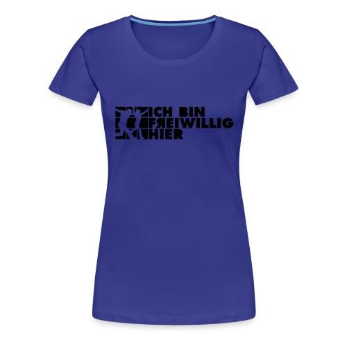 Frauen-T-Shirt (farbig) 2-seitiger, schwarzer Druck - Frauen Premium T-Shirt