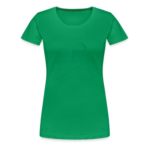 tier t-shirt steinbock alpen berge klettern ibex alps allgäu tirol bergziege - Frauen Premium T-Shirt