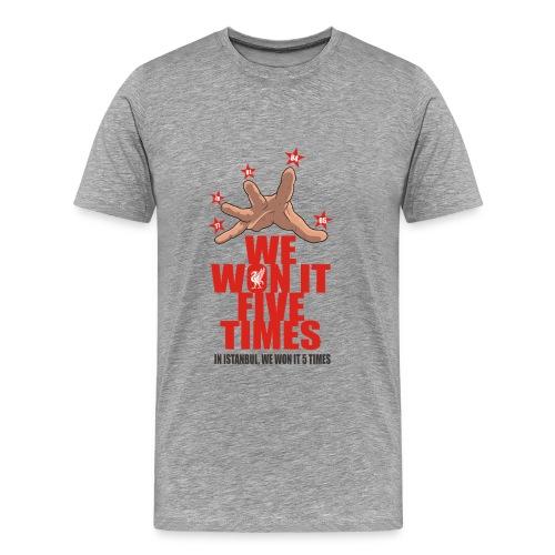 we won it 5 times - Men's Premium T-Shirt