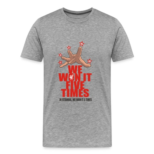 we won it 5 times - Men's Premium T-Shirt