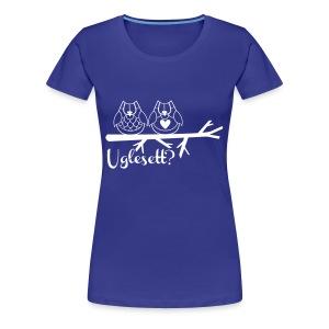 Uglesett dame t-skjorte sort - Premium T-skjorte for kvinner