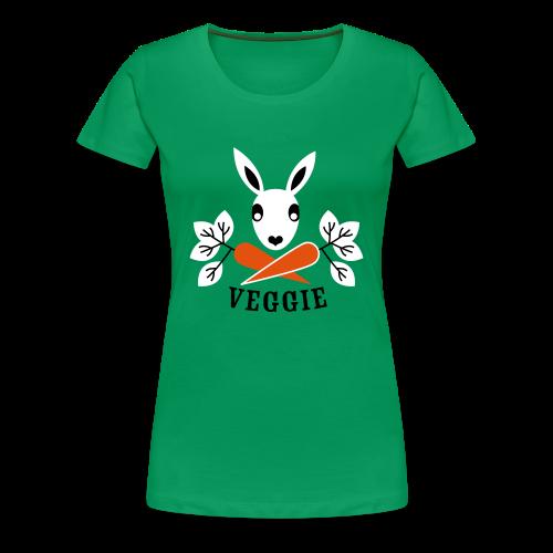 girlieshirt, der veggiehase - Frauen Premium T-Shirt