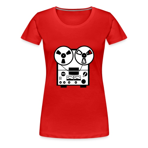 Oldschool Taperecorder - Vrouwen Premium T-shirt